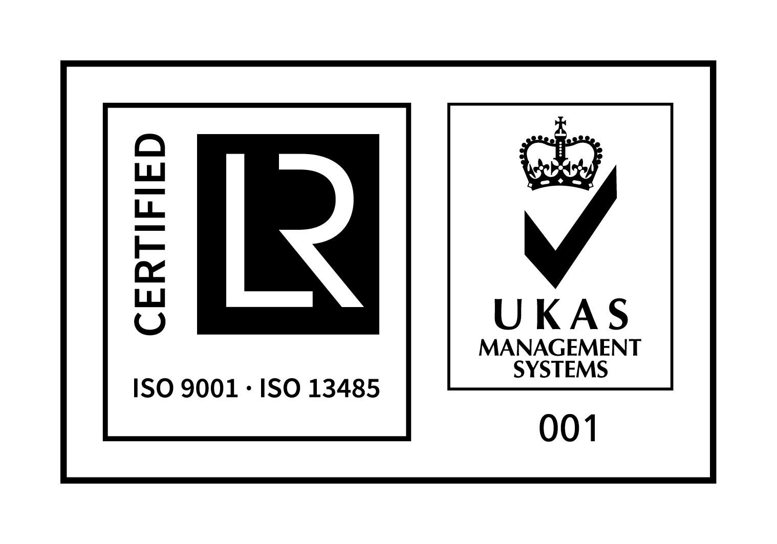 ISO9001,ISO13485 with UKAS